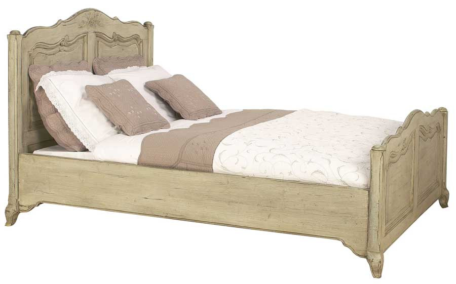 French Country Chateau Queen Bed Antique Reproduction