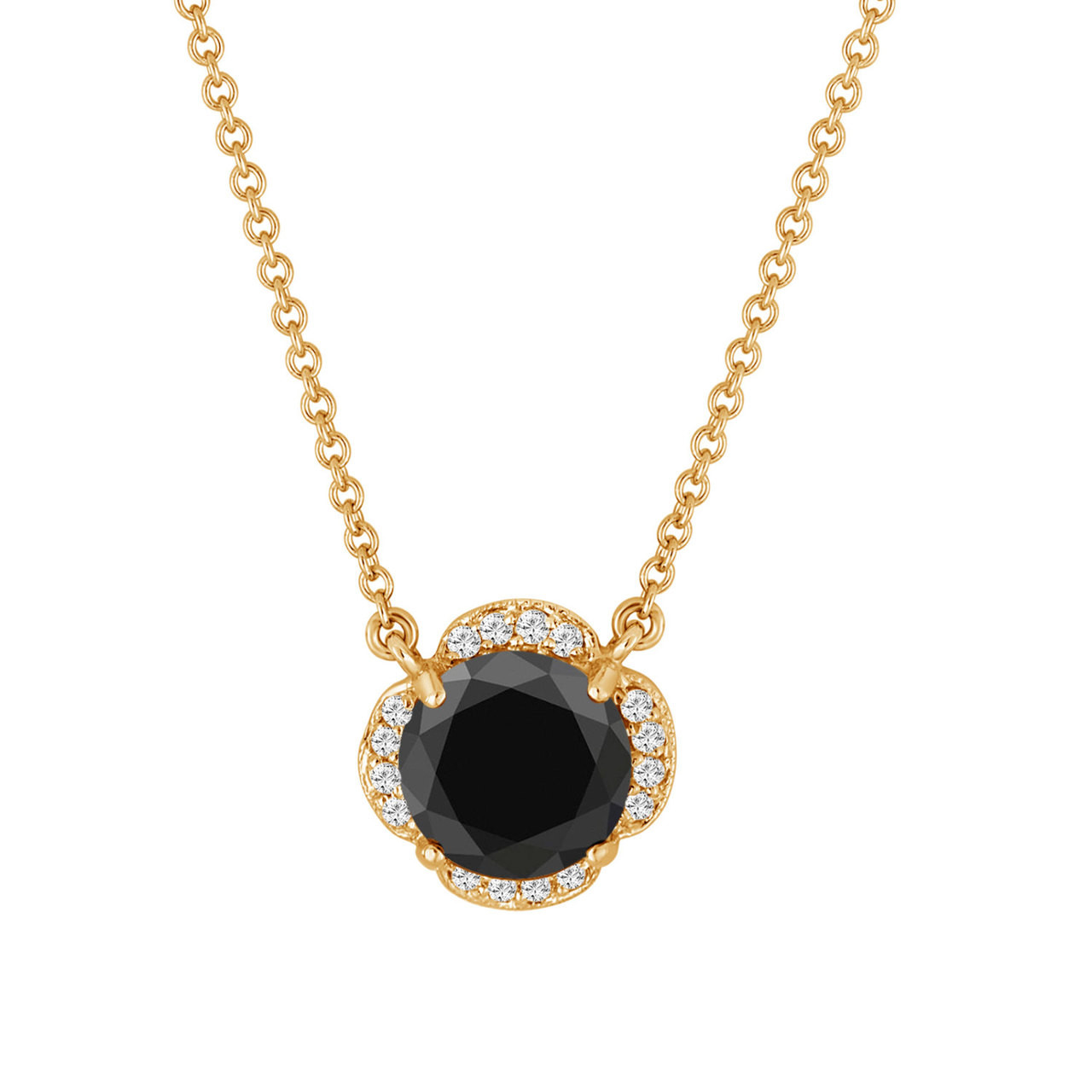 Gold Solitaire Diamond 14 2 Yellow 1 Carat K Necklace