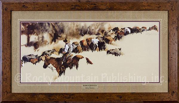 Heading Up French Glen Framed Western Art Print Of