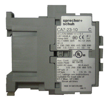 Sprecher  Schuh CA7231024Z IEC contactor with 1 NO base contact and 24vAC coil