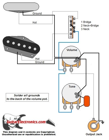 Tele Style Guitar Wiring Diagram
