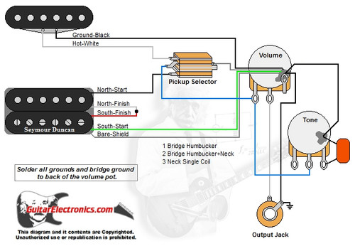 1 Humbucker1 Single Coil3Way Toggle Switch1 Volume1 Tone00  GuitarElectronics