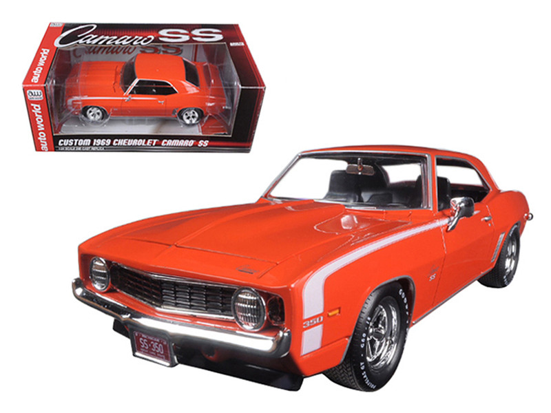 Diecast Model Cars wholesale toys dropshipper drop shipping Custom     Custom 1969 Chevrolet Camaro SS Orange Limited Edition to 750pc 1 24  Diecast Model Car