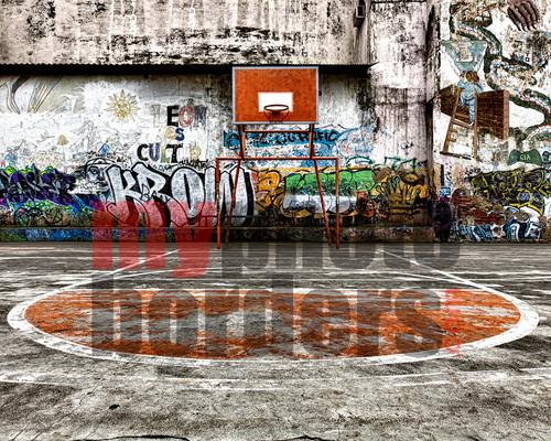 Digital Sports Background Basketball Graffiti