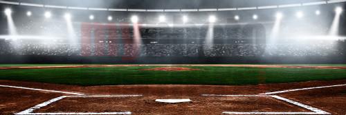 Digital Sports Background Baseball Stadium Panoramic