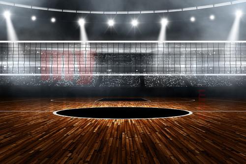 Digital Sports Background Volleyball Stadium