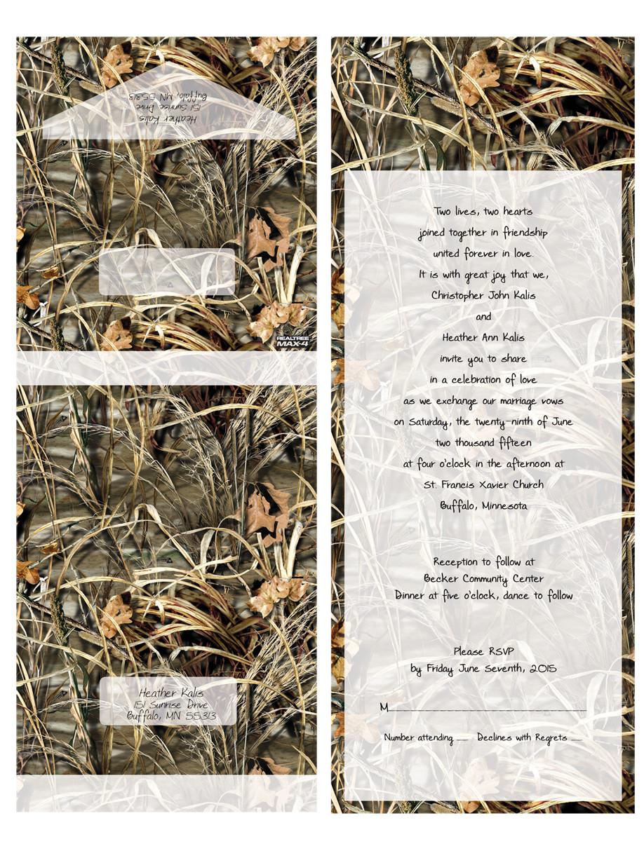 Realtree Seal NSend Wedding Invitations Papersbest