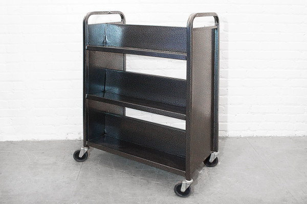 SOLD Rolling Library Book Cart Circa 1970s Rehab