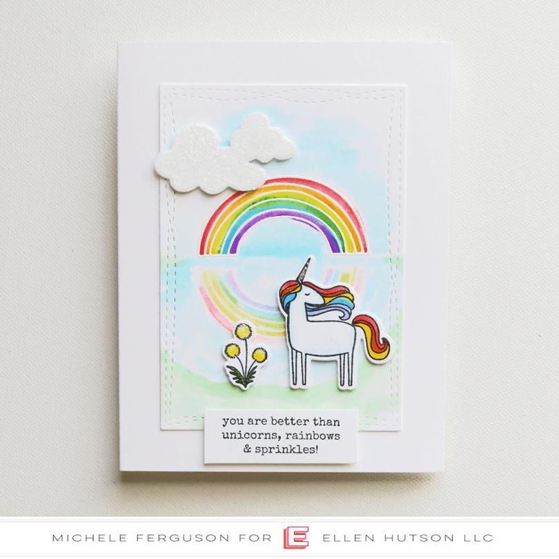 Unicorns 'N Rainbows Card by Michele