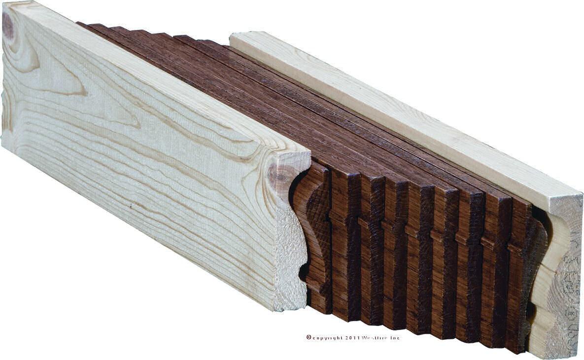 6210B Mahogany Bending Handrail | Mahogany Handrails For Stairs