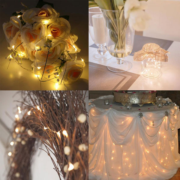 string light wedding decor