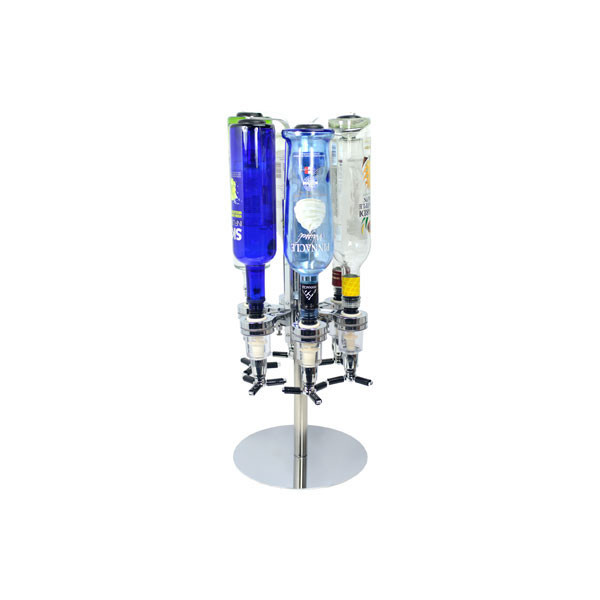 Revolving Alcohol Caddy - 6 Bottles