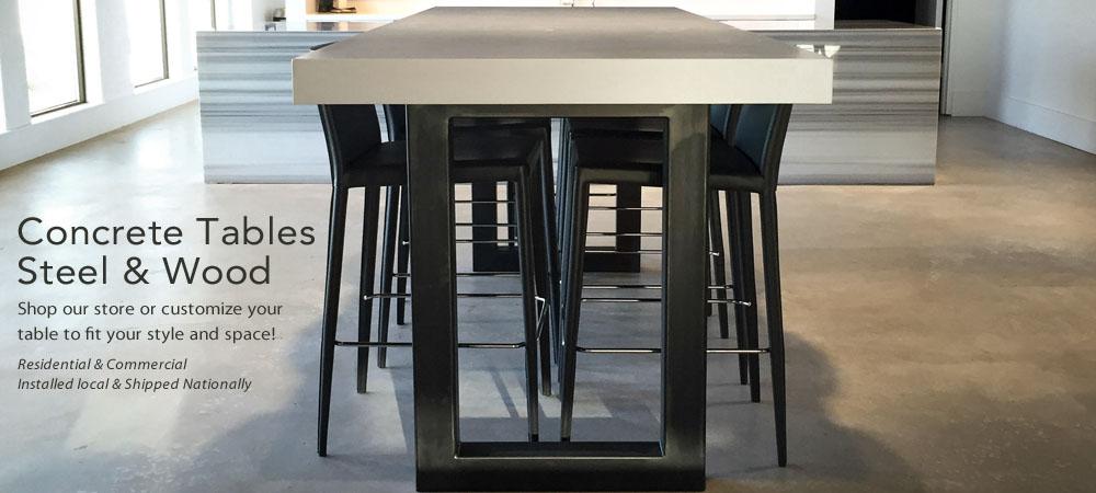 Trueform Concrete Custom Tables Sinks Counters