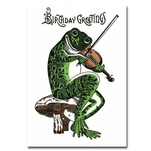 Saturn Press Letterpress Birthday Card Boxed Fiddler