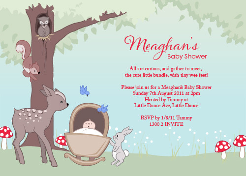 Baby shower invitation personalised