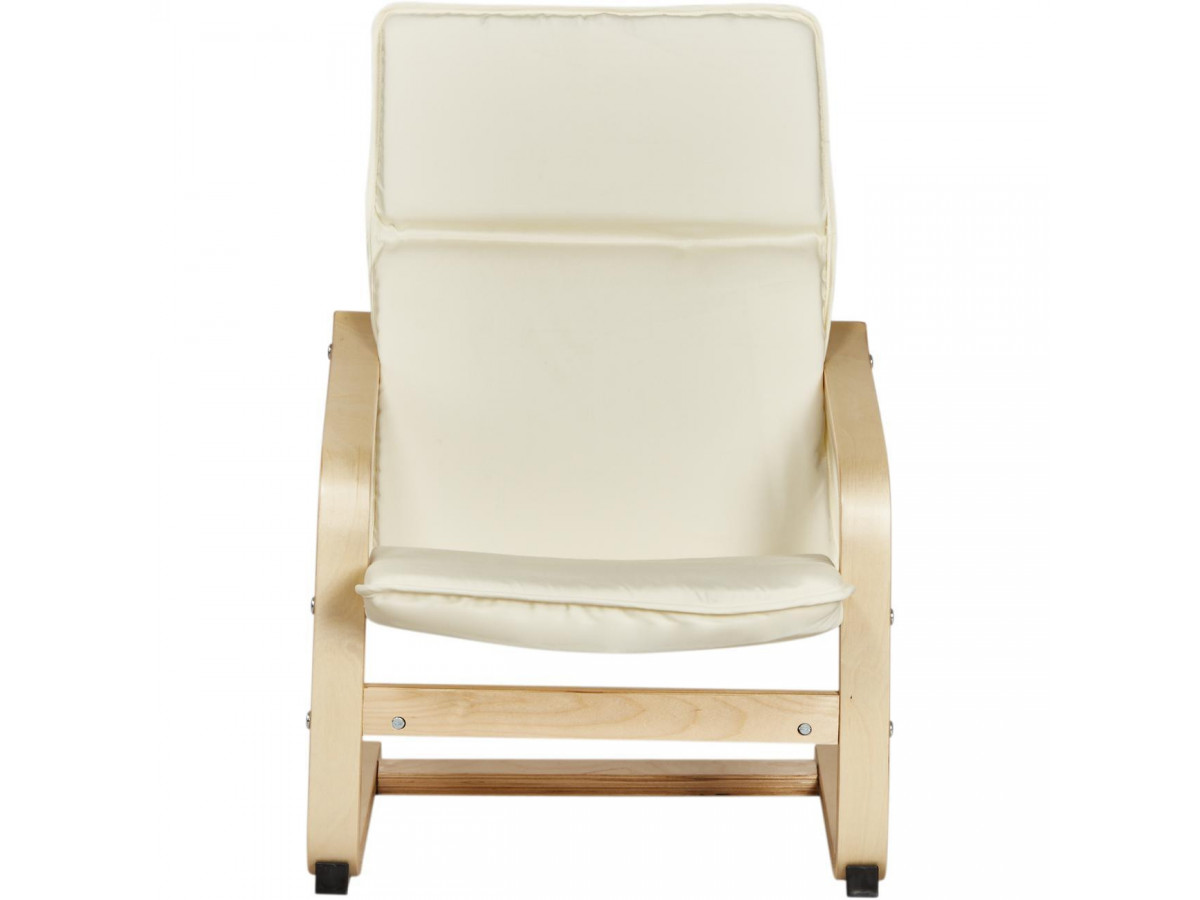 fauteuil enfant relax en bois zia ecru