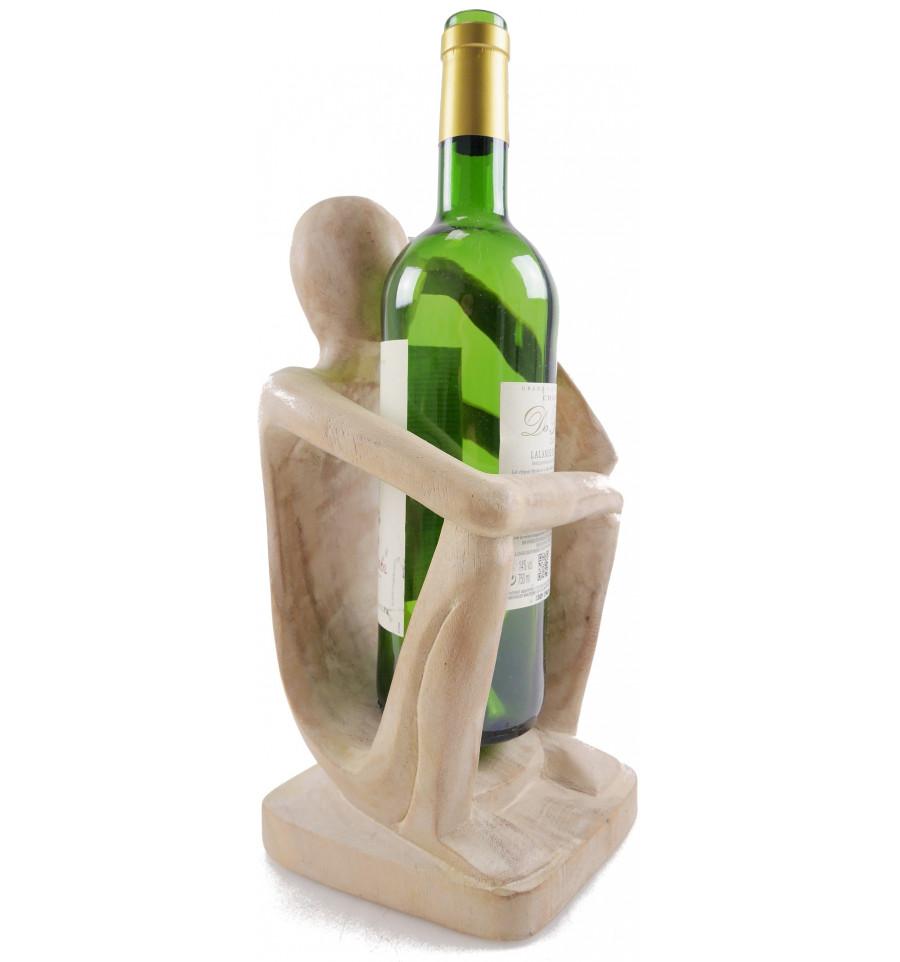 details sur porte bouteille presentoir a bouteille de vin penseur en bois finition