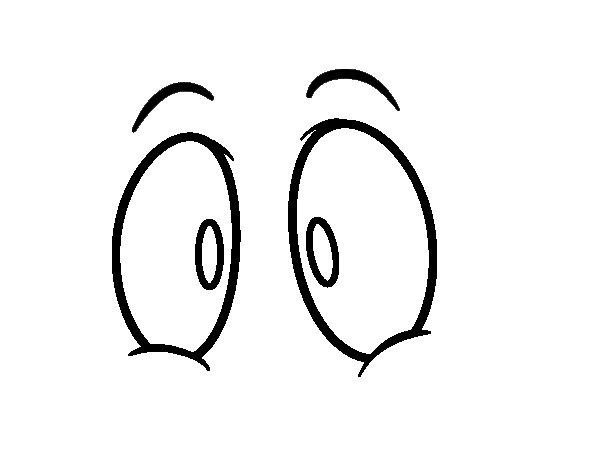 human eyes coloring page  coloringcrew
