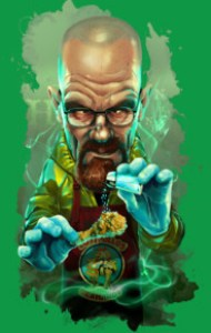 Who does not know Walter White? star of the hit series Breaking Bad. Ironically cartoon now available on your shirt!