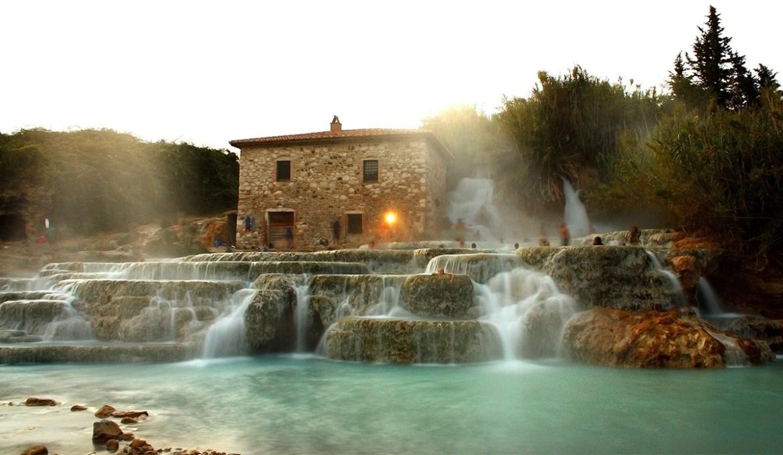 Термальные воды в Сатурнии возле Гроссето