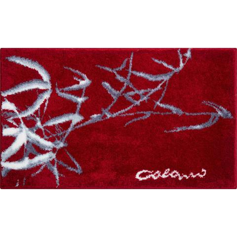 tapis de salle de bain colani 23 rouge 70 x 120 cm