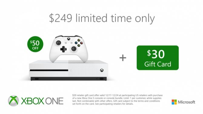 Receive 30 Gift Code For Major Retailers With Purchase Of An Xbox One S Bundle