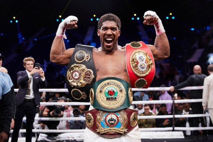Image result for images of Anthony Joshua 2019 with the belts