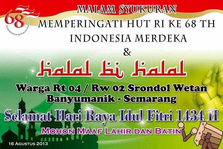 Spanduk Mmt Halal Bi Halal Freelancer
