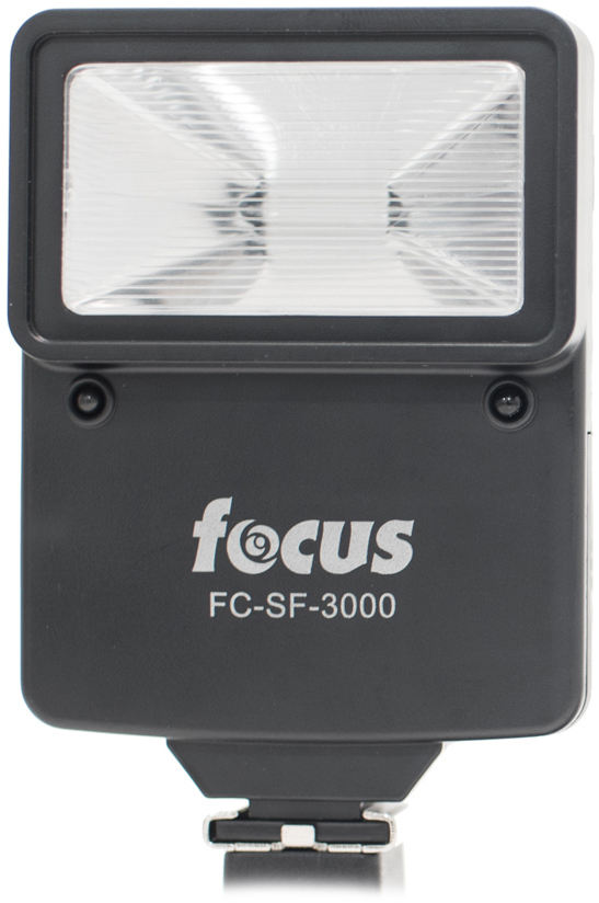 The Focus Digital Slave Flash Unit is a compact flash unit that can be used in combination with a DSLR's built-in hot shoe mount or as a remote slave unit. When using the flash as a slave unit\, there are four slave modes that allow it to work with cameras that fire flash instantaneously or cameras with single or multiple red-eye reduction systems thanks to an integrated pre-flash sensor. The flash unit comes with an adjustable bracket that can be attached using a DSLR camera's tripod socket. The mount on the bracket swivels 360-degrees so you can position the flash to face in any direction you'd like. The flash can also be mounted directly to a camera's hot shoe if one is available. The Focus Digital Slave Flash unit is small and lightweight\, so it can easily fit in a camera bag or even a pocket for easy transportation and storage\, and it's powered with 2 AA batteries so it doesn't drain your camera's lithium-ion battery.