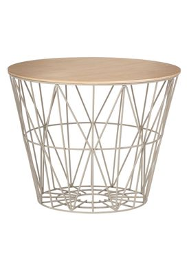 ferm living top wire basket top olieret egefinér medium