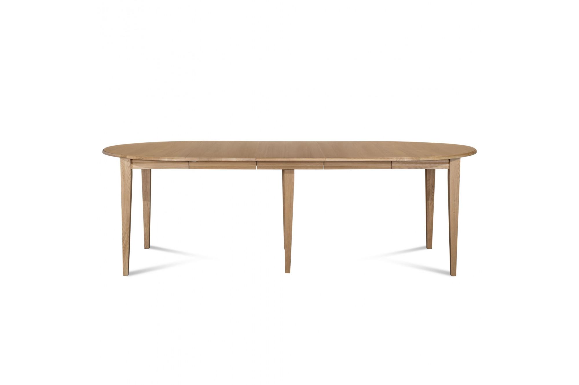 table ronde extensible victoria trois rallonges et pied renfort