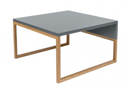 table basse carree bois et gris 60 avalon
