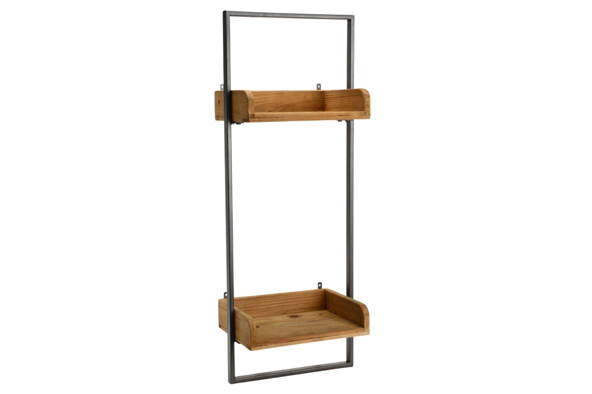 etagere industriel en bois et metal l30 double dina hellin