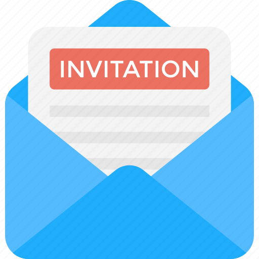christmas party invitation correspondence envelope with invitation invitation card marriage card icon download on iconfinder