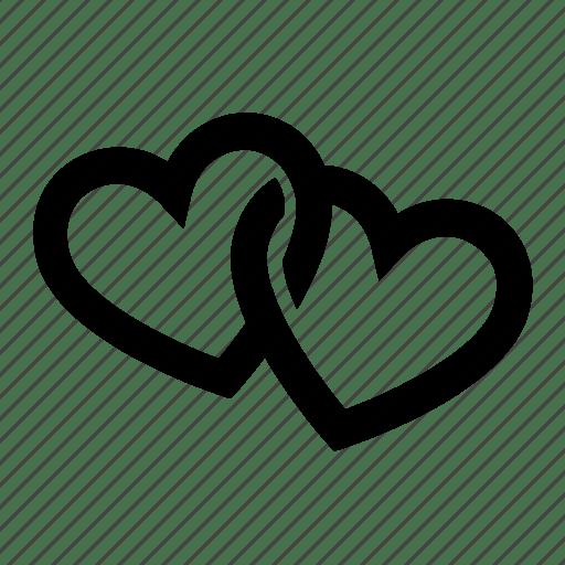 Download Couple, hearts, love, romantic, two icon