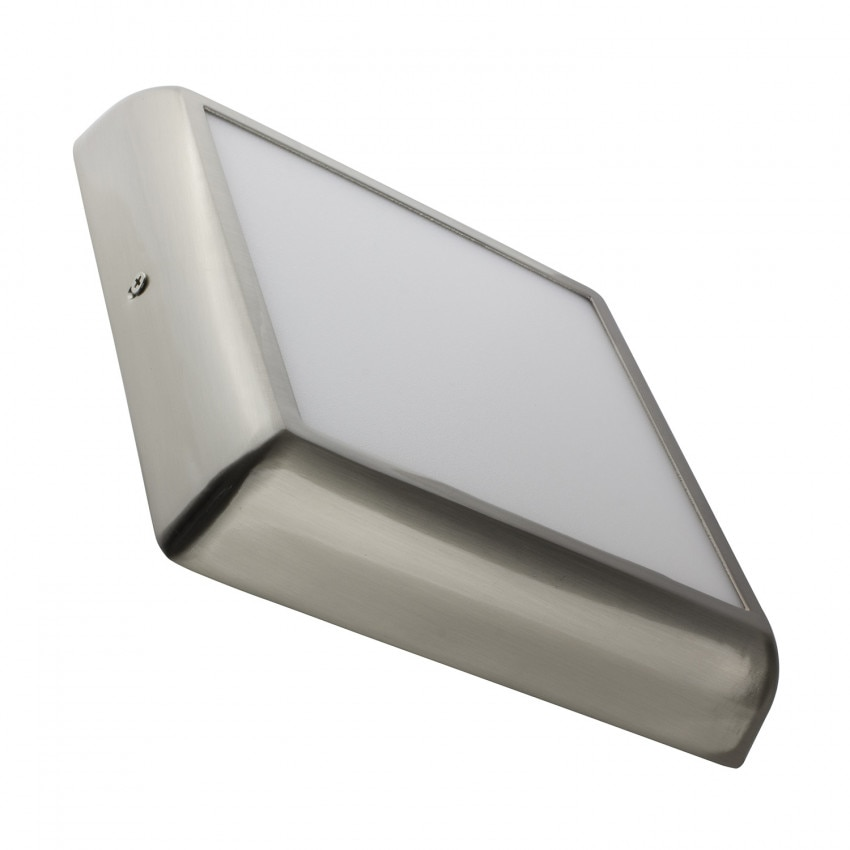 plafonnier led carre design 12w silver