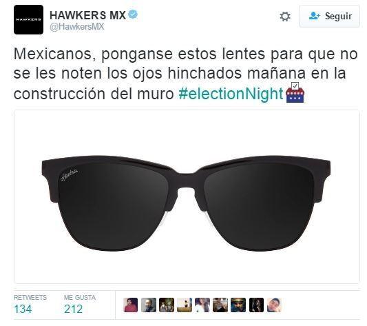 Hawkers México tuit