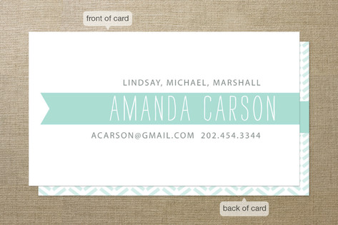 Wrapped in a Banner Business Cards