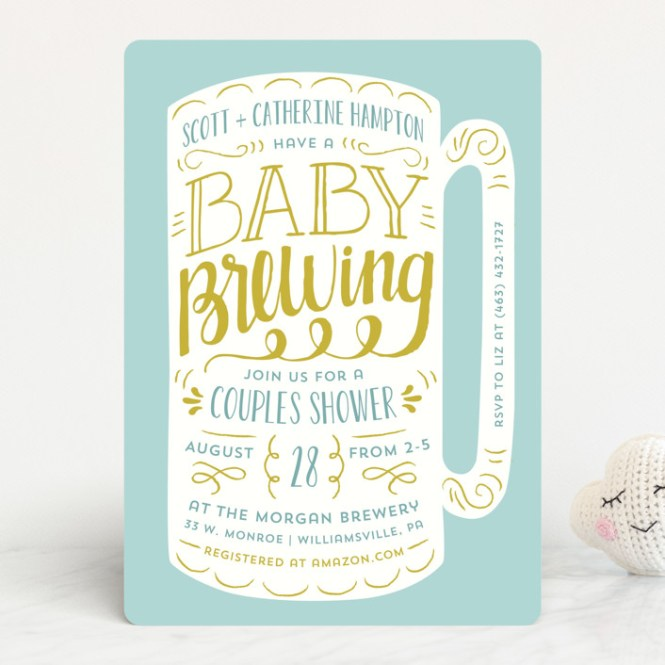 Baby Brewing Shower Invitations By