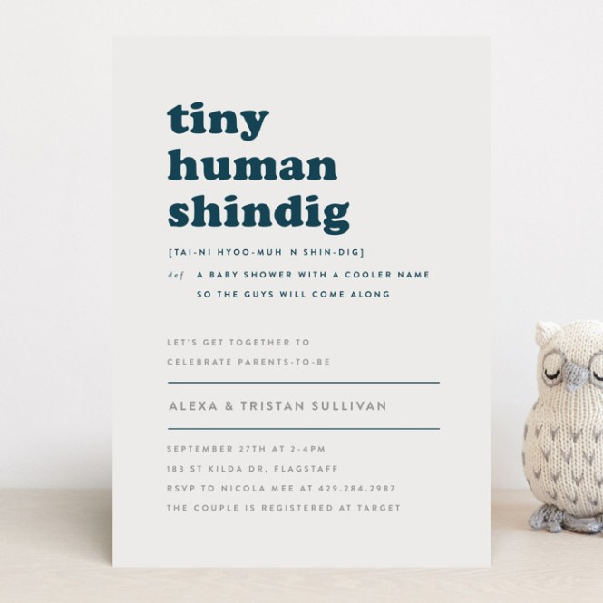 Tiny Human Baby Shower Invitations By