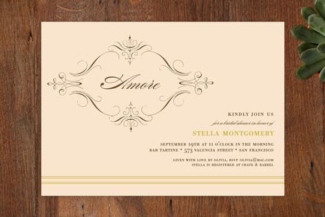 French Vine Bridal Shower Invitations