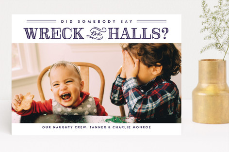 Wreck the Halls Christmas Photo Cards