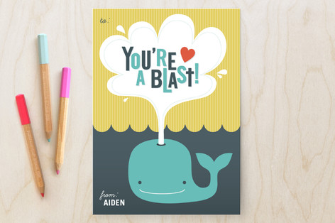 You're a Blast Classroom Valentine's Day Cards
