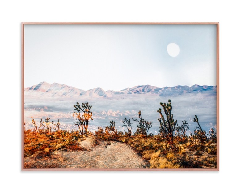 """Desert Super Moon"" - Grownup Open Edition Non-custom Art Print by Kate Baird in beautiful frame options and a variety of sizes."