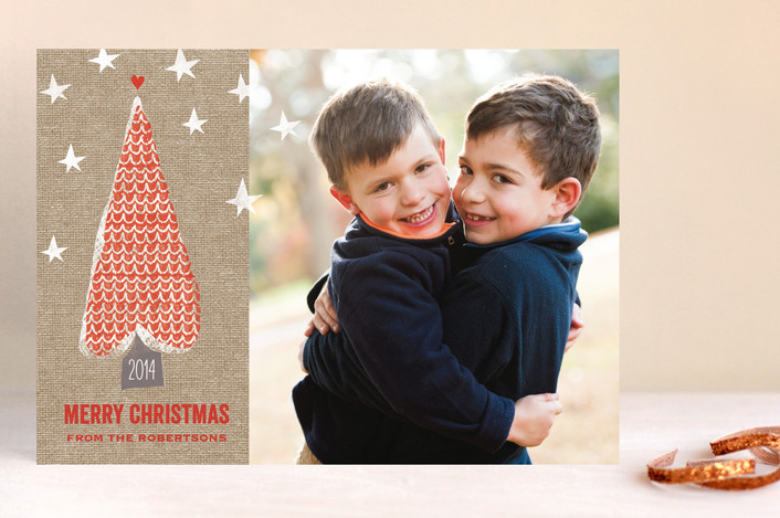 Love Tree Christmas Card from Minted.com