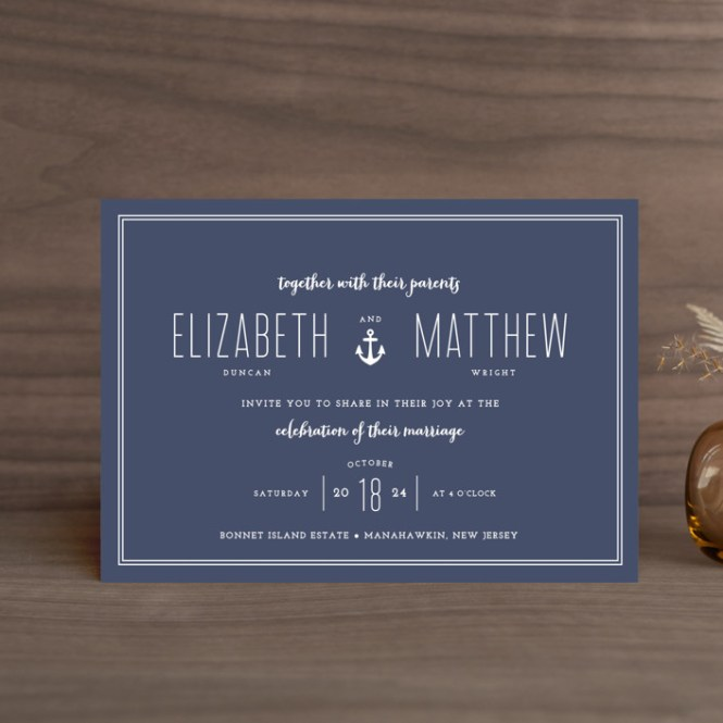 Wedding Invitation Pee Cards
