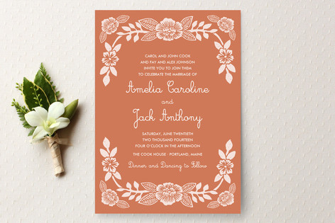Lovely Custom Wedding Invitations Hashtag6