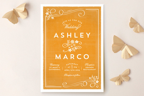 Tuscan Wedding Invitations