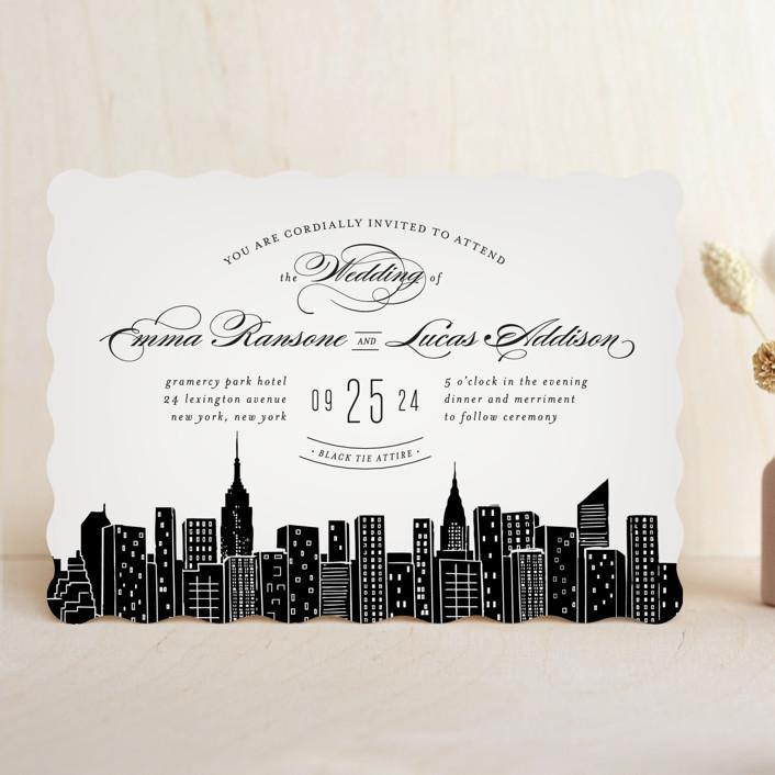 Big City New York City Wedding Invitations By Hooray