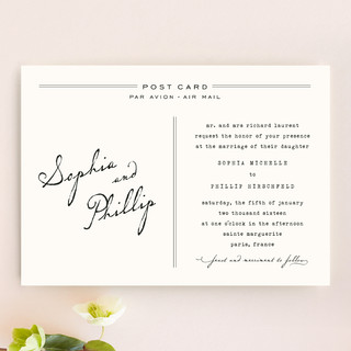 Air Mail Wedding Invitations